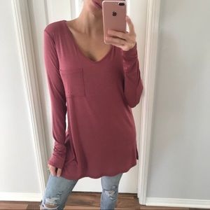 NWT Berry Basic Top